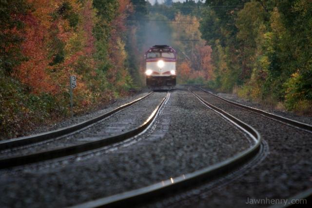 MBTA 1027 Nears Milepost 35